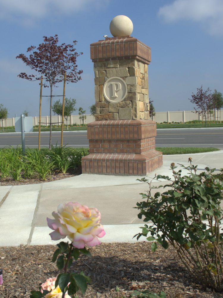 Community park monument